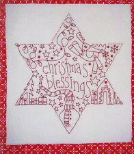 Christmas Blessings Star - gorgeous stitchery KIT - Rosalie Dekker