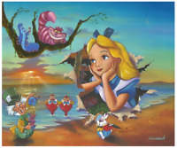Disney Fine Art Limited Edition Canvas Alice's Grand Entrance-Jim Warren