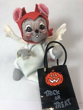 Annalee Halloween Devilish Angel Mouse W/ Trick Or Treat Bag 12F