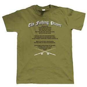 The Fishing Prayer Mens Funny T Shirt - Angling Carp Coarse Gift for Dad Grandad
