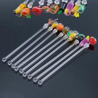 10Pc Swizzle Stir Sticks Acrylic Mixing Spoon Kitchen Cocktail Drink Stirrer Bar