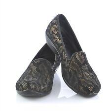 Dansko Black Leather Snake Skin Print Flats Loafers Slip On Shoes Womens 38 US 8