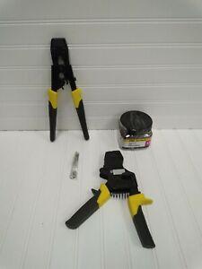 Pex Pinch Crimper & Clamps Tool Lot / Plumbing Tools