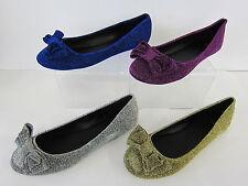Markenlose Damenschuhe im Ballerinas-Stil aus Textil