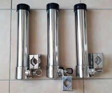 3X Porte Canne Pour Tube 22/25mm Orientable inox 316 - A4 à Pèche avec Etrier