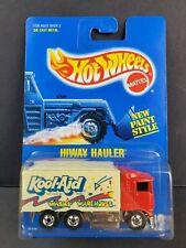 1991 Hot Wheels HIWAY HAULER Kool-Aid Wacky Warehouse #142 Blue Card Car NEW