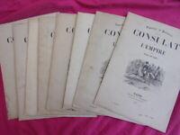 "Lot de livrets "" Consulat et Empire "", gravures & portraits signés Raffet 1845"