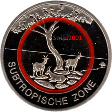 NEW !!! 5 EURO COMMEMORATIVO GERMANIA 2018 Zona Subtropicale NEW !!!