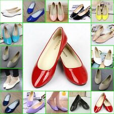 New Womens Flats Loafers Ladies Ballet Slip On Casual Antiskid Shoes Size