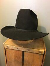 Vtg Resistol Black Cowboy Hat Mens 7-1/4 7.25 4X Beaver XXXX Cowboy Oval Rodeo