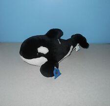 "14"" Sea World Shamu Orca Killer Whale Stuffed Plush Animal Ocean Pal w/ Plastic"