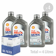 Engine Oil and Filter Service Kit 4 LITRES Shell Helix Ultra Pro AG 5w-30 4L
