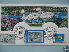 COLLINS H/P FDC 1991 MONTANA MILFORD DUCK - RARE