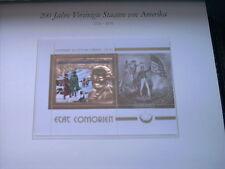 200 Jahre USA xx  Luxusblock KOMOREN etat COMOREN druck GOLD Präsident