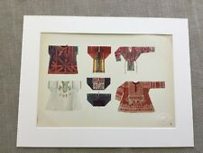 Antique Fashion Print Indian Children's  Clothes Traditional Historical Costume