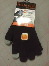 Purple Touch Screen Gloves Child