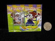 Peyton Manning Mickey Mouse Disney 800F Stamp Africa Republique De Djibouti