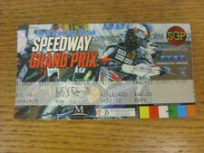 12/06/2004 Ticket: Speedway, FIM British Grand Prix [At Millennium Stadium Cardi