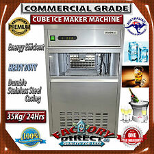 NEW! Heavy Duty Commercial Grade CUBE ICE MAKER MACHINE 35KG 24h 12KG Storage
