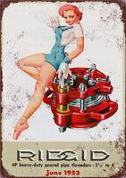 Metal Tin Sign RIDGID poster  Decor Bar Pub Home Vintage Retro