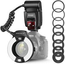 Neewer / Meike MK-14EXT Flash anulare per DSLR Canon eos macro E-TTL  +7 anelli