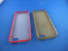 2 Stück Hülle IPHONE 4 Handytasche Nostalgie Case Klassik TOP Rot Durchsichtig