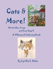 Cat Coloring Book for Children and Adults by Artist Cynthia L. Baker