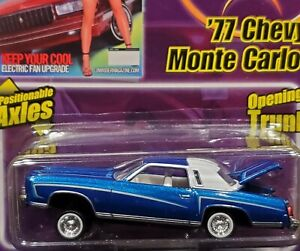 77 1977 Chevy Monte Carlo Revell Lowrider Magazine Collectible Chevrolet Car Blu
