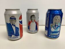 Pepsi Legends Can Collection - Michael Jackson, Britney Spears, Ray Charles