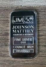 More details for 1oz ounce johnson matthey fine silver bar