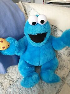Awesome  Large  Talking  Cookie monster Hand Puppet 2017