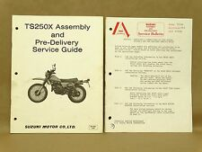Vintage Suzuki 1981 TS250 X Set Up Manual Assembly Service Pre Delivery Guide