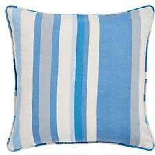 estampado rayas verticales Azul Gris Crema Tubería 45.7cm-45cm Funda De Cojín