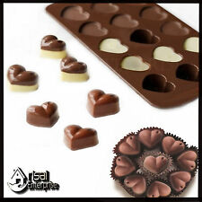 15 Sweet Hearts Silicone Chocolate Cookie Mould Baking Valentine heart Jelly