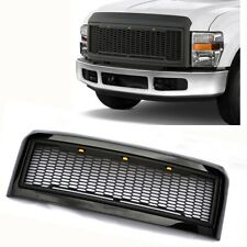For 08-10 Ford F250 350 Raptor Style Black Front Hood Grille Conversion With LED