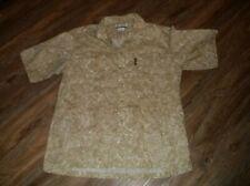 Men's COLUMBIA Short Sleeve Button Front Hawaiian Shirt Large L Fish Print