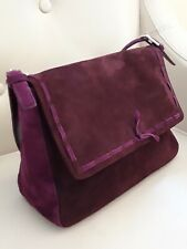 Claudia Ciuti Designer Purple Suede Handbag Made In Italy