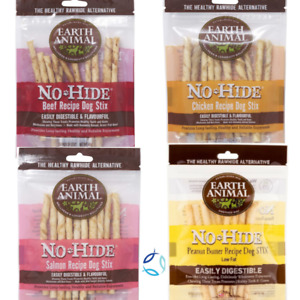 Earth Animal No Hide 10 Stix Pack 45g- Rawhide Replacement Natural Dog Treats
