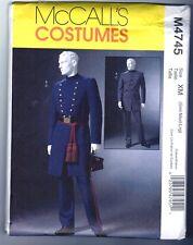 McCalls M4745 Civil War Men's Costume Pattern Uncut / Vintage 2004 Sm Med Large