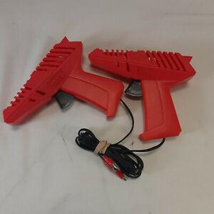 Pair of 2 Red Artin Slot Car Remote Controls