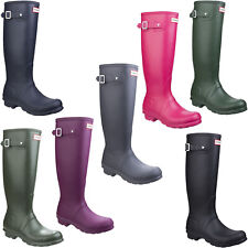 Hunter Original Tall Womens Wellington Boots Waterproof Adjustable Wellies