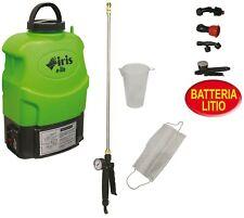Batteria Litio 12V 8Ah per Pompa Irroratrice a Spalla Iris Garden E-lite 16L - Nera