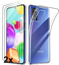 COQUE GALAXY A41 SAMSUNG + 2X VITRE housse silicone transparent VERRE TREMPE