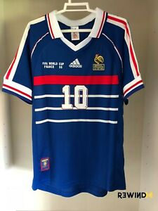 ADIDAS Camiseta FRANCIA mundial 1998 ZIDANE 10 HENRY 12 NUEVA