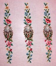 Ep 2489 Castle Medieval Luggage Straps Vintage Preworked Needlepoint Canvas