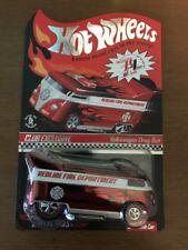 New 2009 HWC RLC Hot Wheels Membership Red Volkswagen Drag Bus Fire Department