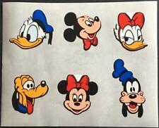Vintage Stickers - Disney - Mickey, Donald, Pluto - Mint Condition!!