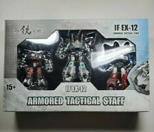 Iron Factory Armored Tactical Staff IF EX-12 - Transformers Prowl Smokescreen...
