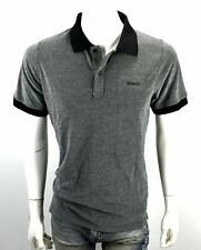 Bench Men's Classic Bi-colored Knitted Polo Shirt/Top