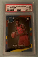 2017 PANINI OPTIC RED/YELLOW OG ANUNOBY RC #178 PSA 10 GEM MINT ROOKIE